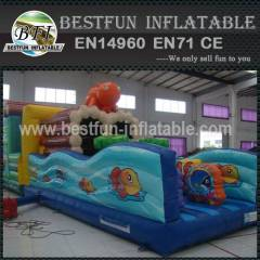 Inflatable kid ocean obstacle course