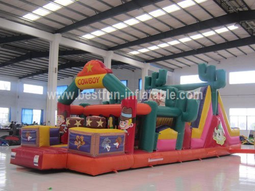 Hot Cowboy Inflatable Obstacle Commercial Playground