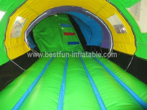 Inflatable Caterpillar Tunnel With Slide