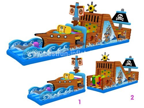 Popular Obstacles Course Inflatable Pirate Ship