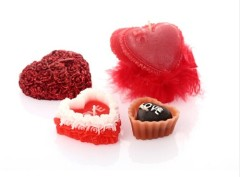 sweetheart/ heart-shaped / chocolate / love/ Valentine's Day candle