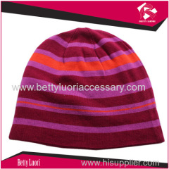 knitted jacquard beanie hat