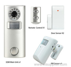 Intelligent gsm alarm home security system with camera