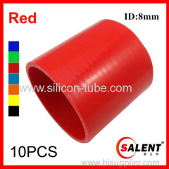 SALENT High Temp 4-ply Reinforced Straight Silicone Coupler Hoses ID 8mm