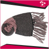 LADIES KNITTED SCARF WITH FRINGE