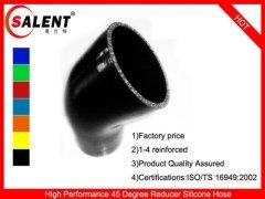 Black SALENT High Temp Reinforced 45 Degree Reducer Elbow Coupler