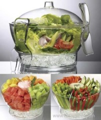 cold bowl on ice / salad bowl