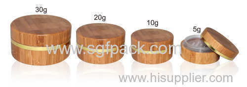 loose powder jar bamboo package cosmetic package with sifter