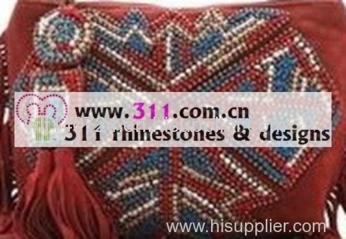 311 bags purses rhinestuds octagon studs iron on hot-fix heat transfer design 3