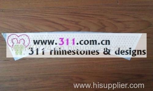 311 collar hot-fix heat transfer rhinestone motif design3
