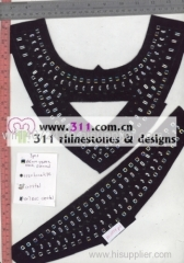 311 DMC rhinestones hot-fix heat transfer rhinestone motif design 1