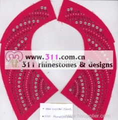 311 DMC rhinestones hot-fix heat transfer rhinestone motif design 3