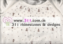 311 front hot-fix heat transfer rhinestone motif design1