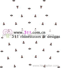311 front hot-fix heat transfer rhinestone motif design2