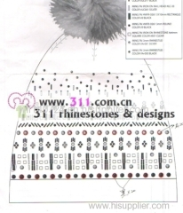 311 hat gloves rhinestuds octagon studs iron on hot-fix heat transfer design 1