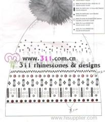 311 hat gloves rhinestuds octagon studs iron on hot-fix heat transfer design 1