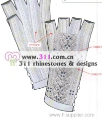 311 hat gloves rhinestuds octagon studs iron on hot-fix heat transfer design 2