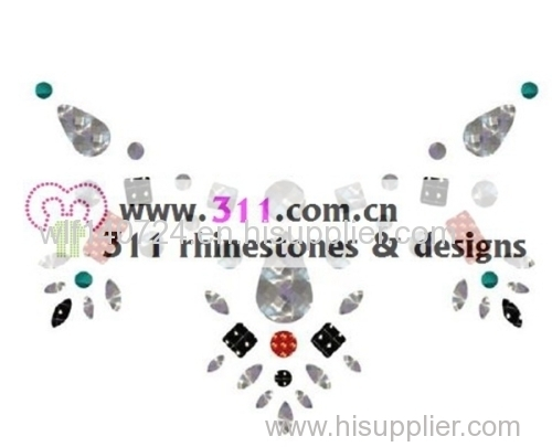 311 iron on acrylic stone hot-fix heat transfer rhinestone motif design 2