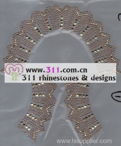 311 kids wear swim suit rhinestuds octagon studs iron on hot-fix heat transfer design 1