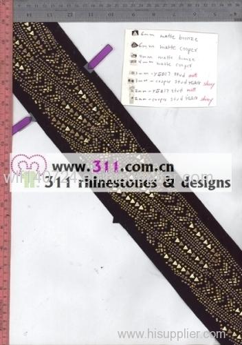 311 nailheads rhinestuds hot-fix heat transfer rhinestone motif design 2
