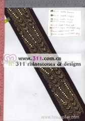 311 nailheads rhinestuds hot-fix heat transfer rhinestone motif design 3