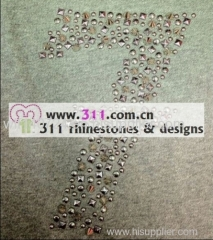 311 numbers hot-fix heat transfer rhinestone motif design 2
