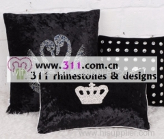 311 pillow rhinestone studs copper studs hot-fix heat transfer rhinestone motif design 2