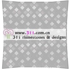 311 pillow rhinestone studs copper studs hot-fix heat transfer rhinestone motif design 4