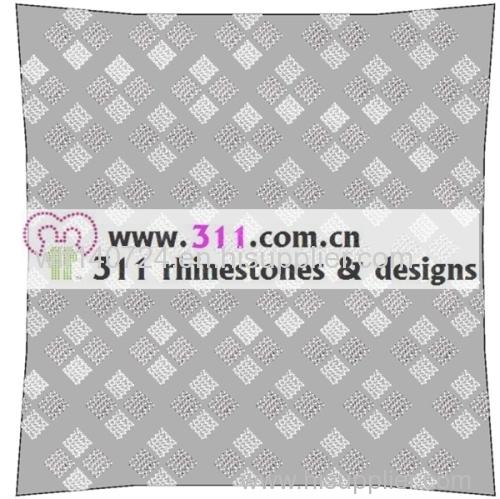 311 pillow rhinestone studs copper studs hot-fix heat transfer rhinestone motif design 4