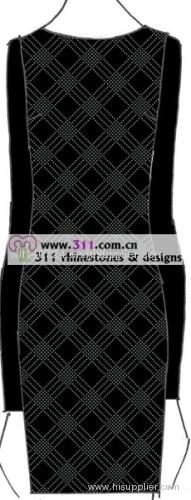 311 raw fabric rhinestone studs copper studs hot-fix heat transfer rhinestone motif design 2