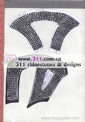 311 shoes rhinestuds octagon studs iron on hot-fix heat transfer design 1