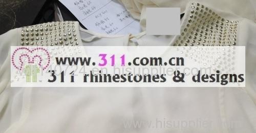 311 shoulder hot-fix heat transfer rhinestone motif design 1