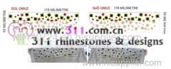 311 shoulder hot-fix heat transfer rhinestone motif design 3