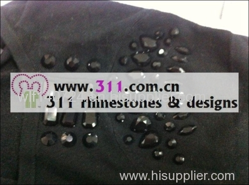 311 shoulder iron on epoxy hot-fix heat transfer rhinestone motif design 1