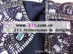 311 shoulder iron on epoxy hot-fix heat transfer rhinestone motif design 2