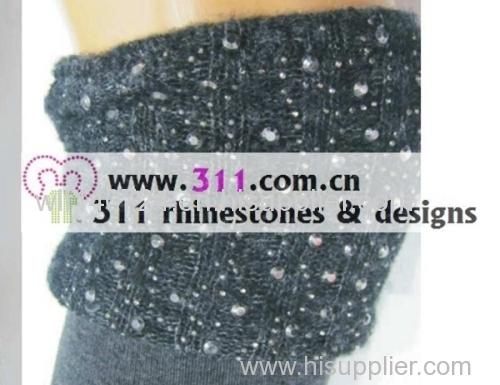 311 socks rhinestuds octagon studs iron on hot-fix heat transfer design 2
