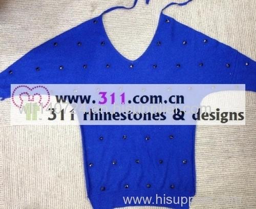 311 sweater iron on epoxy hot-fix heat transfer rhinestone motif design 2