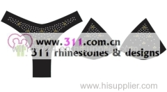311 underwear hot-fix heat transfer rhinestone motif design 3