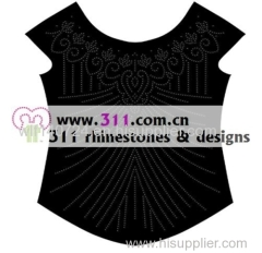 311-allover-hot-fix heat transfer rhinestone motif design 3
