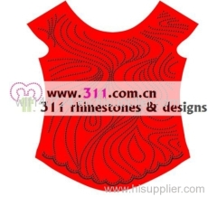 311-allover-hot-fix heat transfer rhinestone motif design 2