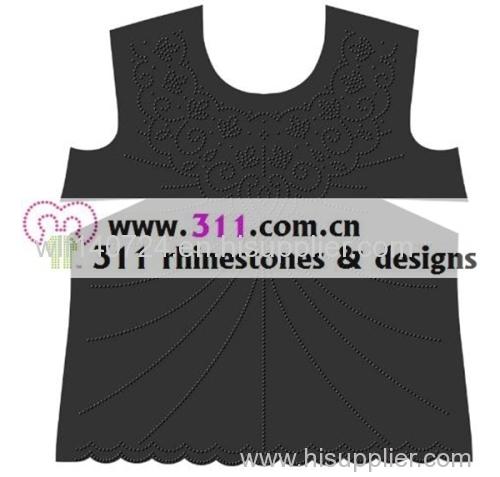 311-allover-hot-fix heat transfer rhinestone motif design 4