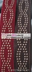 311-belt rhinestone rhinestuds nailheads copper studs motif design 1