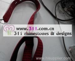 311-belt rhinestone rhinestuds nailheads copper studs motif design 2