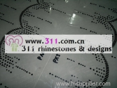 311-border-hot-fix heat transfer rhinestone motif design 1