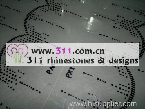 311-border-hot-fix heat transfer rhinestone motif design 1