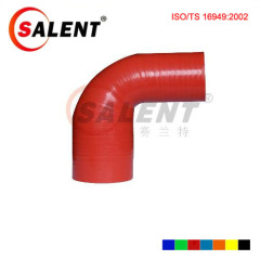 Red SALENT High Temp Reinforced 90 Degree Reducer Elbow Coupler