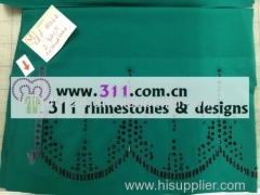 311-border-hot-fix heat transfer rhinestone motif design 2