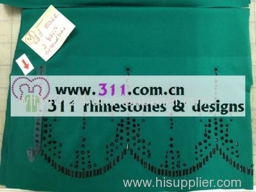 311-border-hot-fix heat transfer rhinestone motif design 2