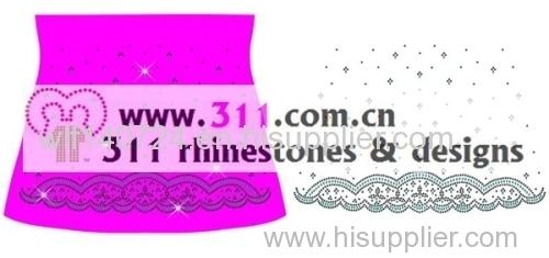 311-border-hot-fix heat transfer rhinestone motif design 3