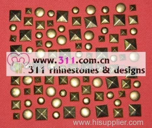 311-copper studs alloy studs-hot-fix heat transfer rhinestone motif design 3